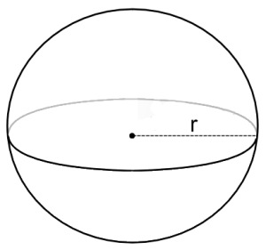 How to find the volume of a sphere intermediate geometry given a sphere of radius 7cm what is the volume of the sphere ccuart Choice Image