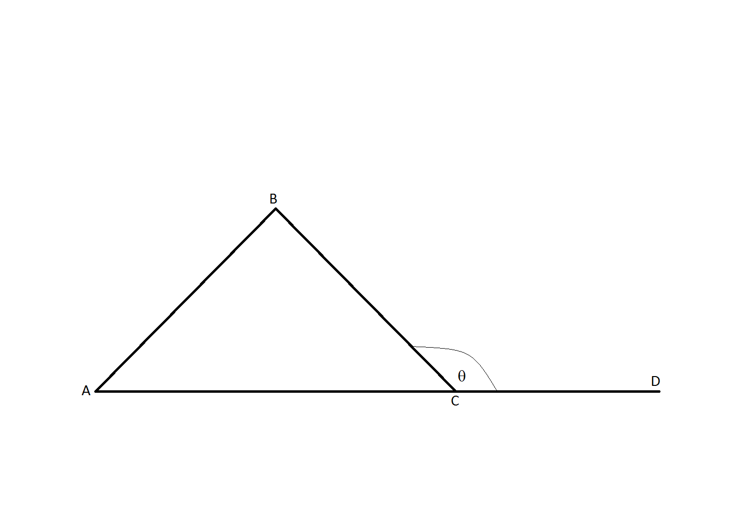 Acute obtuse triangles high school math for Exterior of an angle definition