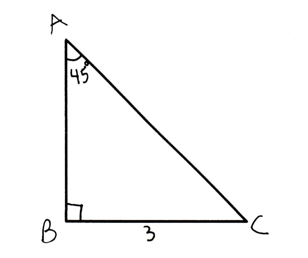 90 Right Isosceles  Triangle