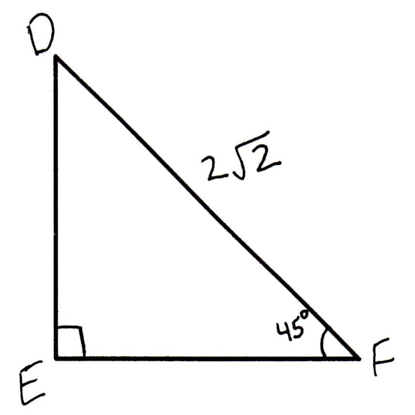 how to find unknown side of isosceles triangle