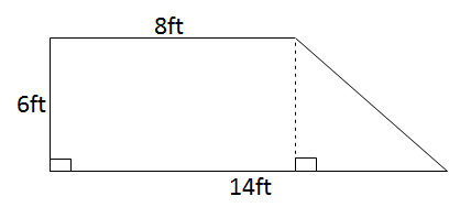 How to find the area of a trapezoid isee lower level math calculate the area of the trapezoid iseequestion10 ccuart Choice Image