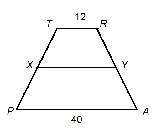 Trapezoids isee upper level quantitative trapezoid figure not drawn to scale ccuart Choice Image