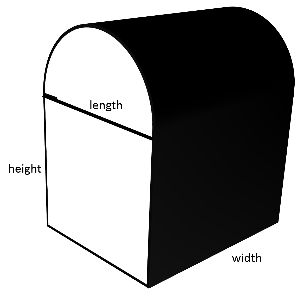 In Order To Find The Volume Of The Figure, We Will First Need To Find The  Volumes Of The Rectangular Prism And The Half Cylinder