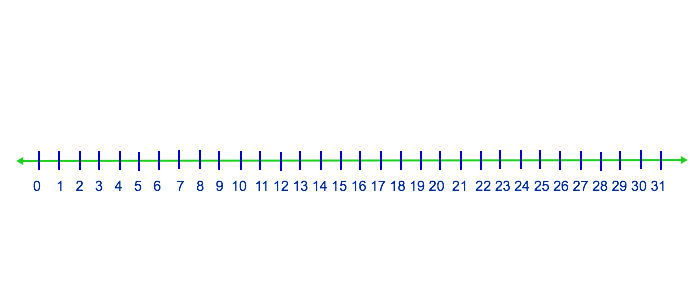 0 31 number line