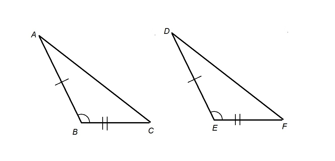How to build a obtuse triangle with a compass and a ruler