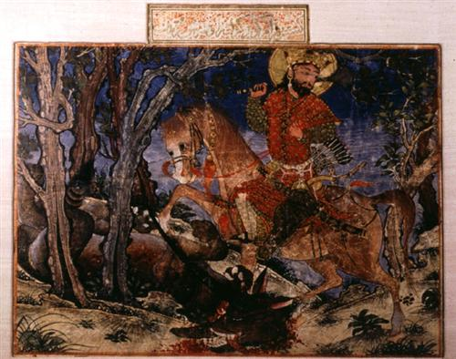 Bahram gur kills the wolf 1336.jpg blog