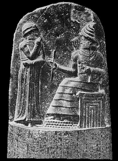 Milkau oberer teil der stele mit dem text von hammurapis gesetzescode 369 2