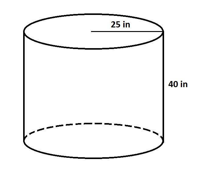 volume of a cylinder   ged mathexample question     volume of a cylinder