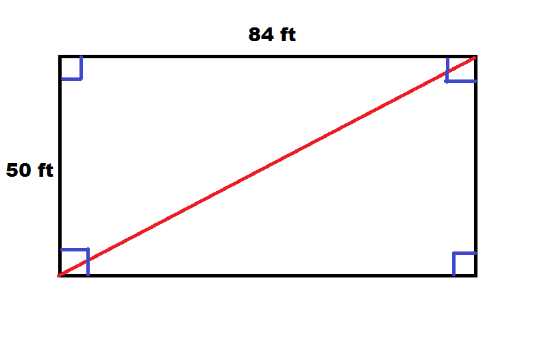 Determining diagonal length of a square