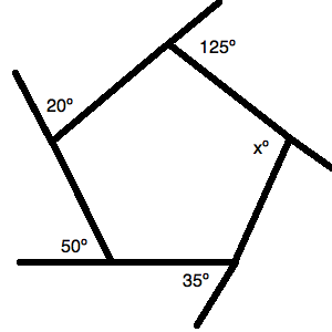 All Of The Angles Listed (except The Interior One) Are Exterior Angles To  The Pentagonu0027s Interior Angles.