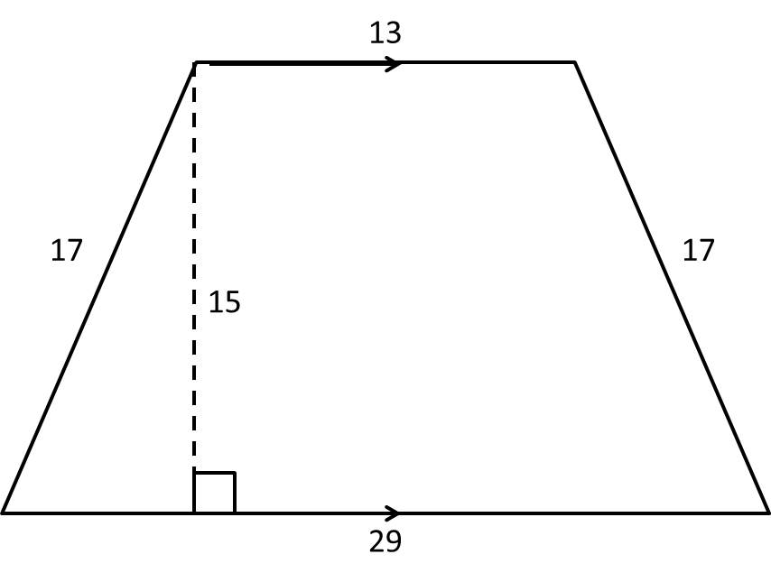 How to find the area of a trapezoid advanced geometry example question 1 how to find the area of a trapezoid ccuart Choice Image