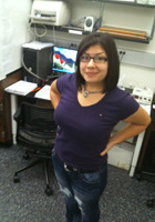 A photo of Karla who is one of our Chicago Middle School Math tutors